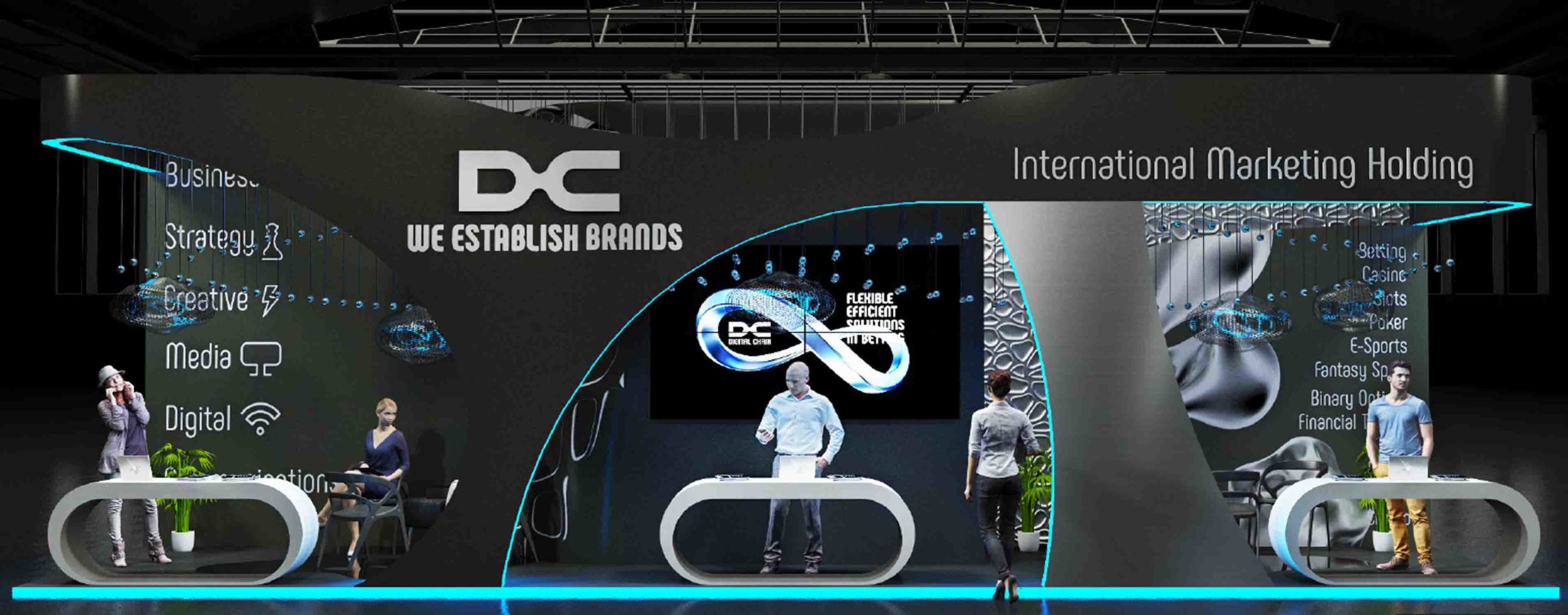Digital Chain exhibition stand