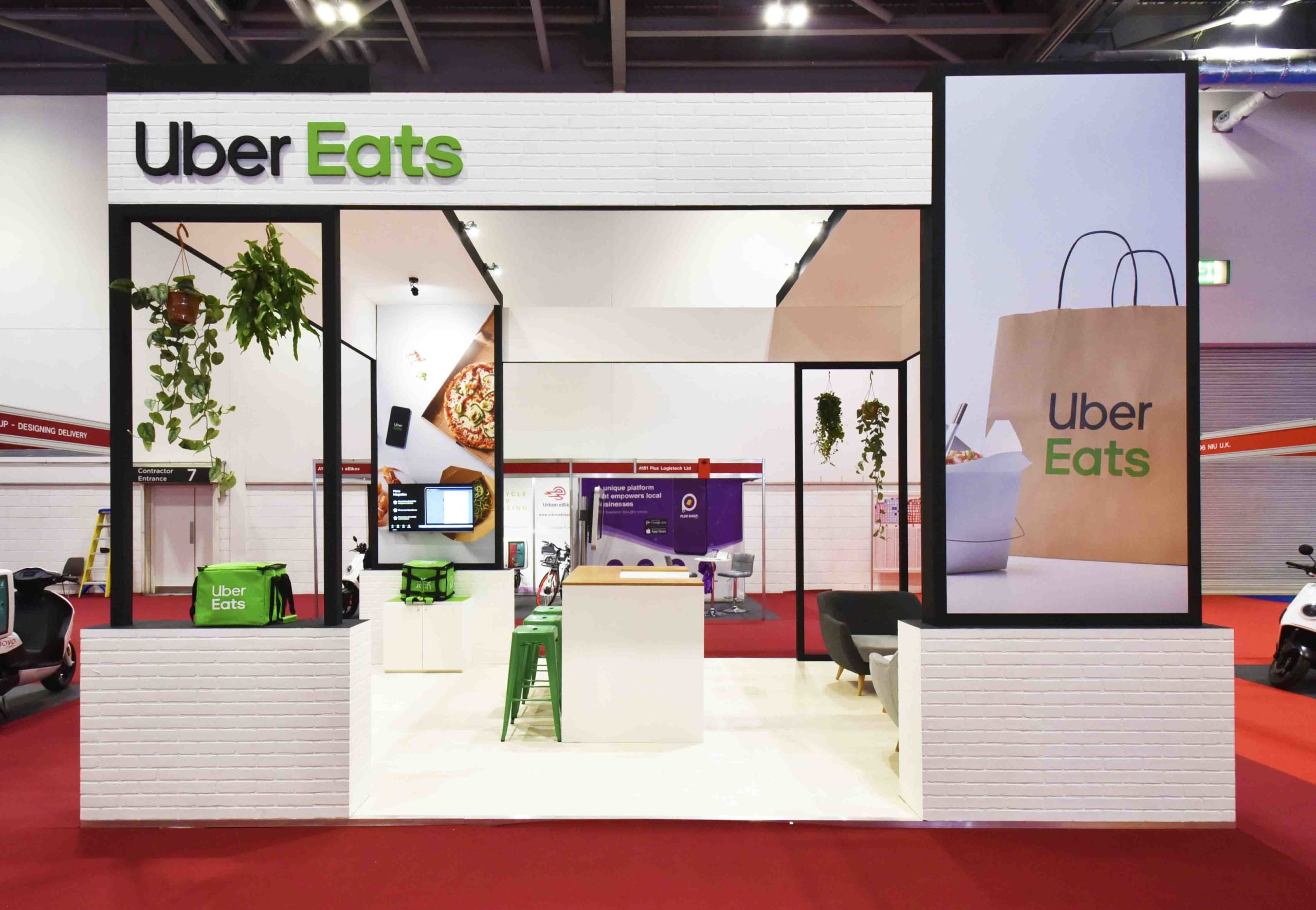 Uber Eats Exhibition Stand Build