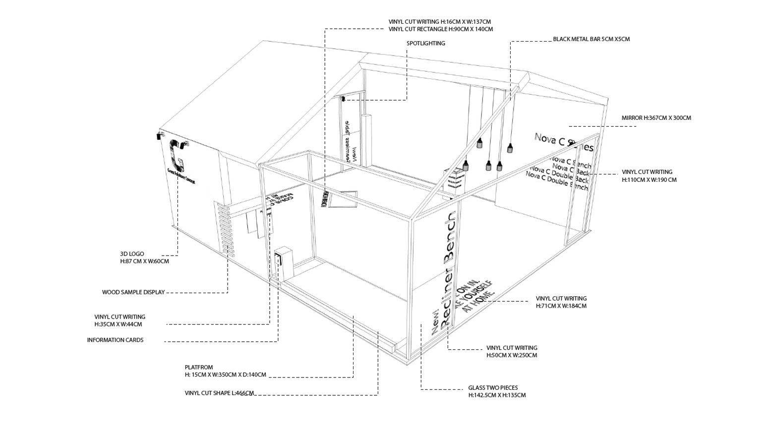 Exhibition Stand Design tech drawings